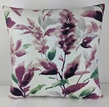"""John Lewis  & Partners """"ASHLEY LEAF"""" Fabric in Mulberry Cushion Cover 17""""x17"""""""