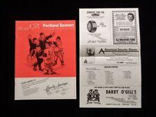 >orig. 1971 PCL Portland Beavers v Eugene Emeralds MINOR LEAGUE BASEBALL PROGRAM