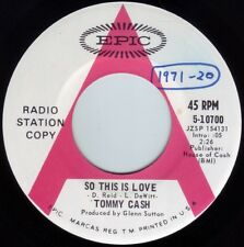 TOMMY CASH So This Is Love ((**NEW UNPLAYED 45 DJ**)) from 1971