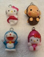 4 Hello Kitty Charms Keychains Phone Shoe Collectible