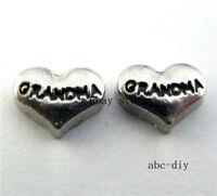 10pcs grandma Floating charms For Glass memory Locket Free shipping fc657