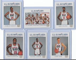 1992 US OLYMPIC DREAM TEAM (11) CARD SET W/ MICHAEL JORDAN ~ MULTIPLES AVAILABLE
