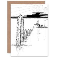 Uncle Lubin Loch Ness Monster Heath Robinson Blank Greeting Card With Envelope