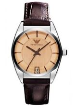 BNWT EMPORIO ARMANI  AR1629 LADIES LEATHER WATCH RRP £229
