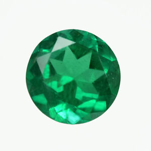 Certified 0.80 ct ZAMBIA Natural Emerald Round 6.28 mm Loose Gemstone 202_VIDEO