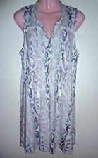 NEW Tart Pink & Gray Reptile Snakeskin Print Sleeveless A-Line Dress XL/0X
