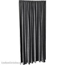 Charcoal Gray 8 ft H Fire Rated Velvet Curtain Panel w/Rod Pocket Doorway Drape