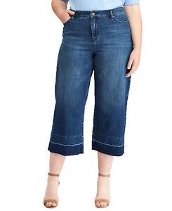 Lauren Ralph Lauren Plus Cropped Flare Jeans (Blue, 16W)