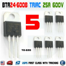 5pcs Bta24 600 Triac Thyristor 25a 600v St Bta24 600b To 220