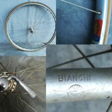 "ruota  anteriore front  wheel bici bike corsa road Bianchi 28""  Mavic  32 fori"