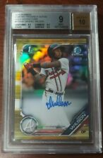 New listing Isranel Wilson RC Autograph Gold Refractor #38/50 2019 Bowman Chrome RC BGS 9 10