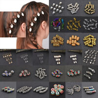 Dreadlock Hair Beads Dread Beads Hair Braid Pins Rings Clips DIY Cuff Jewelry