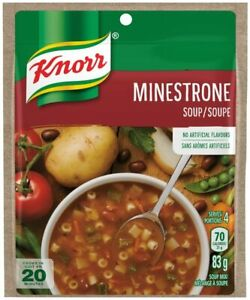 12PACK Knorr Minestrone Soup Mix 83g each -CANADA -FRESH &  DELICIOUS!