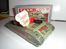 TANK-M3 modern toys char d'assaut tin toy jouet tole 60's made in japan friction