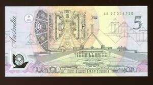 1992 Australian $5.00 Banknote UNC - AA25 004720