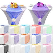 "10/20 PCS 14""x 108"" Wedding Organza Table Runner Party Banquet Decoration"