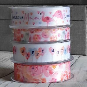 Happy Mothers Day Ribbon. Fabulous Mum Love Mummy Best Mum Pink Floral Flamingo