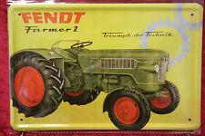 Fendt Farmer 2  Bulldog Traktor Reklame Sign Blechschild Schild 20x30