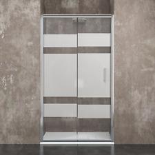 Box doccia a nicchia parete porta bagno in cristallo 6mm alluminio scorrevole