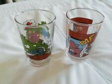 Vintage Smurf Drinking Glasses (Benedictin)