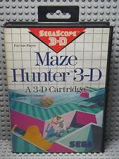 Maze Hunter 3-D - SEGA Master System SegaScope 3-D - Boite & Notice