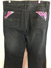 """Lady Enyce Jeans Womens Size 33 Black Wash Boot Cut New Without Tags Inseam 32"""""""