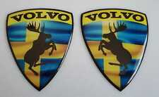 Swedish flag  Moose Domed Badge Sticker silicone 3D 73 x 60mm wings volvo x2