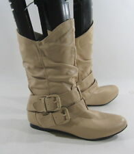 new ladies ivory  Round Toe Side Buckles Sexy Ankle Boot women Size 5.5