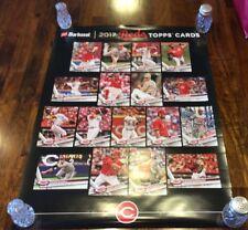 2017 Barbasol Cincinnati Reds Topps Cards Poster! Nice! New!!