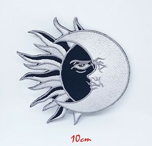 Yin Yang Sun & Moon Embroidered Iron or Sew on Patch Badge