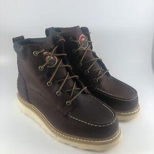 "Irish Setter Men's 6"" 83605 Work Boot Brown - Size 8.5 Wide"