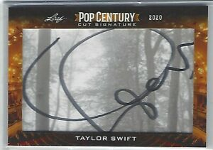 TAYLOR SWIFT Cut Autograph 2020 Leaf Pop Century Auto