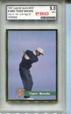 1997 Tiger Woods Legends Gold Foil Rookie card Graded 9 Mint Swing
