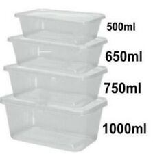 Food Containers Plastic Takeaway Microwave Freezer Safe Storage Boxes + LIDS
