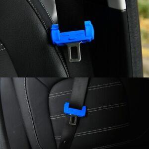 Auto Car Accessories Seat Belt Buckle Silicone Cover Clip Anti-Scratch Blue