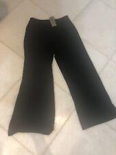 NWT CHICO/'S Solid Black MEGALOPOLIS SABRINA Wide Leg Stretch Pants 1 M 8