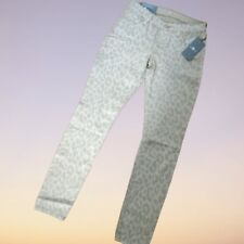 NWT 7 For All Mankind Gwenevere Leopard Cheetah Super Skinny Ankle Jeans Size 25