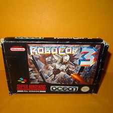VINTAGE 1993 SUPER NINTENDO ENTERTAINMENT SYSTEM SNES ROBOCOP 3 GAME BOXED