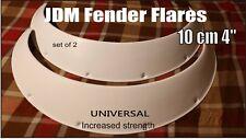 "JDM Fender Flares Fiberglass 10cm 4"" UNIVERSAL (increased strength) set of 2"