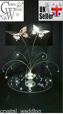 Crystal base and  butterfly fountain wedding table centrepiece