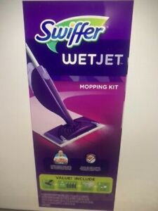 Swiffer WetJet Floor Mop Starter Kit1 Mop, 10 Pads, 2 Liquid Solutions + MORE!!