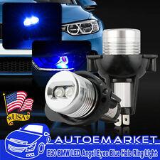 2x Blue LED Headlight Angel Eyes Halo Rings Bulbs Light For BMW E90 E91 2006-08