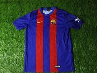 BARCELONA BARCA SPAIN 2016/2017 FOOTBALL SHIRT JERSEY HOME NIKE ORIGINAL YOUNG