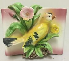 VINTAGE CERAMIC BUTTERFLY WALL PLANTER / HANGER JAPAN in AS FOUND CONDITION
