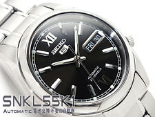 Seiko 5 Men's SNKL55K1 Stainless Steel Automatic 21 Jewels Day Date Watch