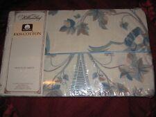 Vintage Williamsburg Sheet Flat Twin Size NIP Floral 100% Cotton VIRGINIA DAMASK