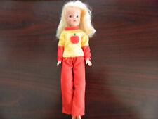 Vintage Original Pedigree Sindy Doll & Apple Outfit Uk 1970'S
