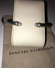 David Yurman Cable Classics Bracelet with Pearls and Diamonds 5mm