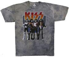 Kiss-Group-X-Large Gray Tie Dye  T-shirt