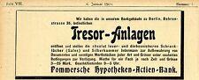 Tresor-instalaciones abre... origenpomeranio hypo Berlín histórica publicitarias de 1900